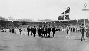 Denmark at the 1912 Summer Olympics - The team of Denmark at the opening ceremony.