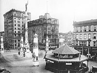 1919 Center Square decorated after World War I Armistice