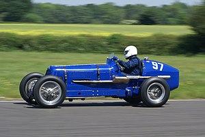 Vintage Sports-Car Club - 1937 E.R.A. 12C at VSCC Curborough Speed Trials 2009