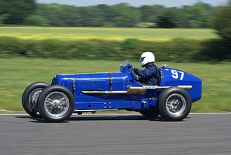 Vintage Sports-Car Club - 1937 E.R.A. 12C at VSCC Curborough Speed Trials 2009