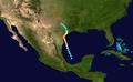 1945 Atlantic hurricane 5 track.png