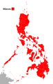 1981 Philippine presidential election result per province.png
