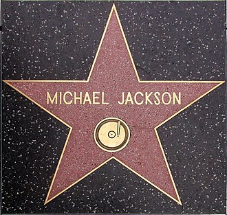 Jackson's star on the Hollywood Walk of Fame, set in 1984 1993 walk of fame michael jackson.jpg