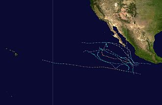 Pacific hurricane - Image: 1995 Pacific hurricane season summary