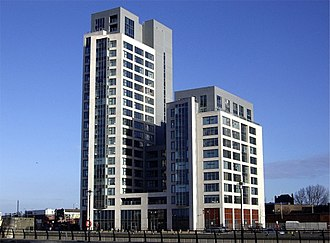 Prince's Dock, Liverpool - 1 Princes Dock, one of the tallest buildings on the dockside