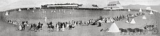 Hagley Oval - 1st Match, Canterbury v England, Hagley Park – February 1864