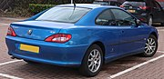 2003 Peugeot 406 HDi Coupe SE 2.2 Rear.jpg