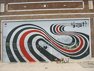 Figure 8 (album) - The Figure 8 wall on Sunset Boulevard in Los Angeles