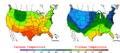 2006-05-10 Color Max-min Temperature Map NOAA.png