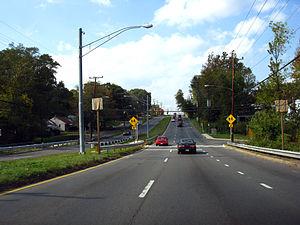 Maryland Route 586 - MD 586 near Turkey Branch looking east toward Randolph Road