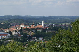 Sulzbach-Rosenberg - View of Sulzbach from Annaberg
