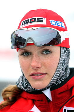 Gabriela Koukalova, 2010 in Obertilliach