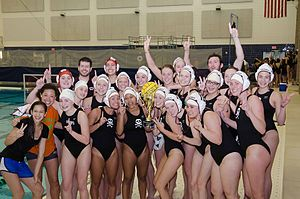 Athletics (physical culture) - Image: 2011 Okemos High School Girls' Water Polo State Championship Team