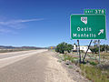 2014-06-11 12 05 01 Sign for Exit 378 along westbound Interstate 80 and northbound Alternate U.S. Route 93 in Oasis, Nevada.JPG