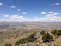 "2014-06-13 12 21 06 View north-northwest from the summit of ""E"" Mountain in the Elko Hills of Nevada.JPG"