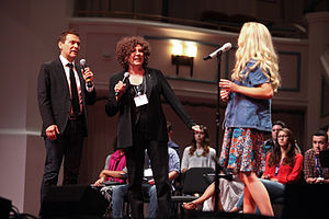 Great American Songbook Foundation - Songbook Academy founder Michael Feinstein and Grammy-winner Cheryl Bentyne of The Manhattan Transfer coaching participants in the 2014 Songbook Academy