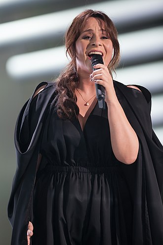 Netherlands in the Eurovision Song Contest 2015 - Trijntje Oosterhuis at a dress rehearsal for the first semi-final