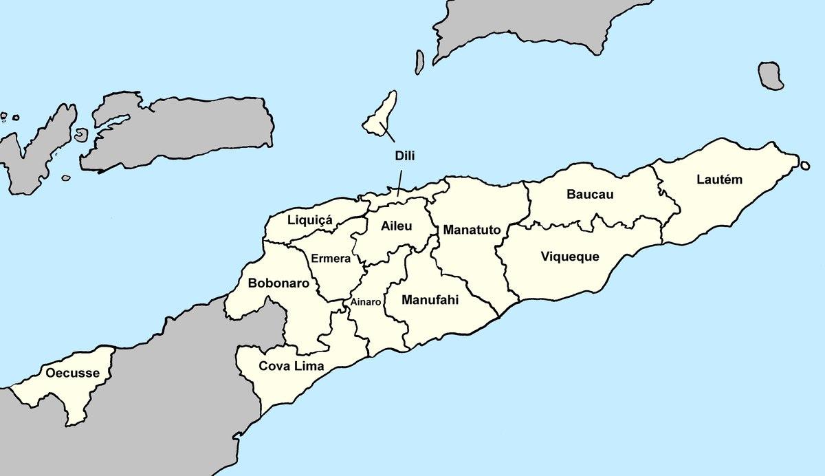 øst timor kart Øst Timors distrikter – Wikipedia