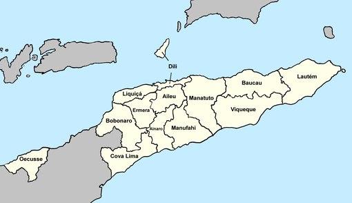 I distretti di Timor Est.