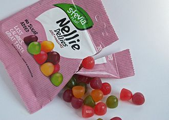 Toms International - Stevia-sweetened winegums produced by Toms (June 2016)