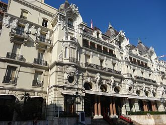 Hôtel de Paris Monte-Carlo - The hotel as it appeared in 2008. The balcony of the Diamond Suite Charles Garnier (on the second floor as seen in this picture), was featured in the animated film Madagascar 3: Europe's Most Wanted.