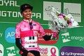 2018 Women's Tour stage 3 021 Coryn Rivera points jersey.JPG