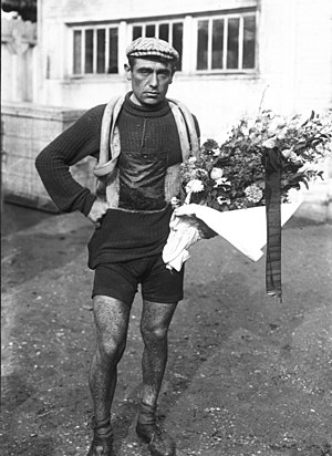 Eugène Christophe - Christophe after finishing the 1912 Tour de France.