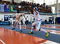 2nd Leonidas Pirgos Fencing Tournament. Matthew Baker scores a touch.jpg
