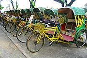 Trishaw used to be a major public mode of transport in Macau. But now it is only for sightseeing purposes.