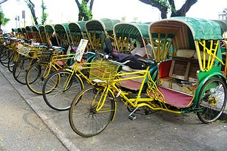 Transport in Macau - Rickshaw in Macau.