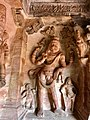 6th century Vishnu avatar Narasimha in Cave 3, Badami Hindu cave temple Karnataka 1.jpg