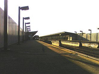 88th Street (IND Fulton Street Line) - Station before renovation.