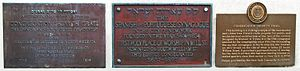 Congregation Shearith Israel - Landmark plaques