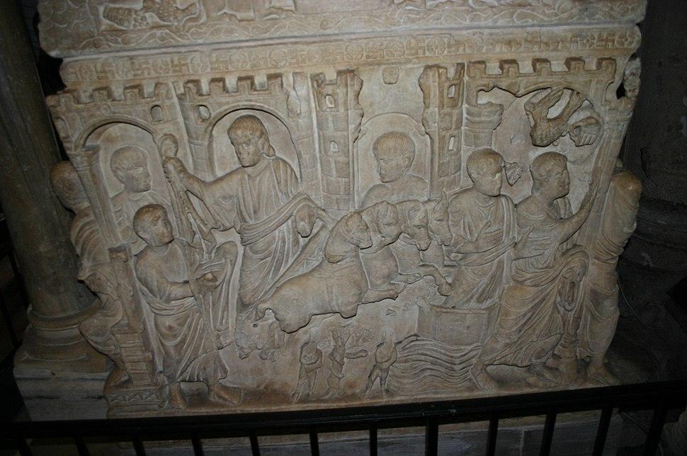 9820 - Milano - Sant'Ambrogio - Sarcofago di Stilicone - Foto Giovanni Dall'Orto 25-Apr-2007