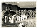 9th Gurkhas drawing rations at a French farm house St Floris, France (Photo 24-54).jpg