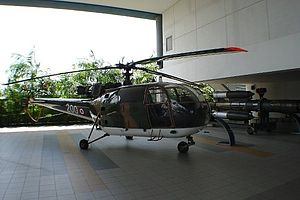 120 Squadron, Republic of Singapore Air Force - Image: Aérospatiale Alouette III at the Republic of Singapore Air Force Museum