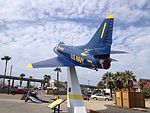 A-4F in Blue Angel Colors at the USS Lexington rear view.JPG