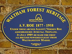 A.v. roe 1877   1958 (waltham forest heritage) 2 of 2 down