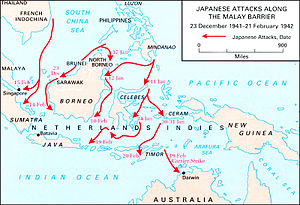 Kokoda Track campaign - Japanese attacks along the Malay Barrier 23 December 1941 – 21 February 1942.