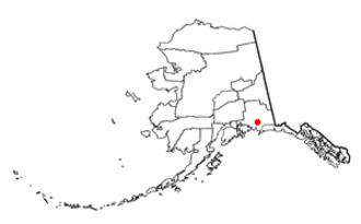 Chitina, Alaska - Image: AK Map doton Chitina