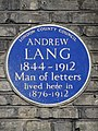 ANDREW LANG 1844-1912 Man of letters lived here in 1876-1912.jpg