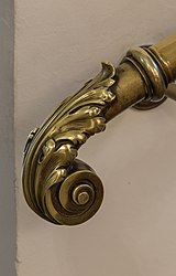 AT-119587 Knob of a stairhandrail in the aula of the Academy of Sciences, Vienna 8682.jpg