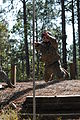 A Special Forces Assessment and Selection candidate conducts training at the Nasty Nick obstacle course at Camp Mackall in Hoffman, N.C., September 2009 091009-A-GV060-111.jpg