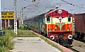 A WDM 3A loco (14090) of Visakhapatnam shed with a passenger train at Bhilai.jpg