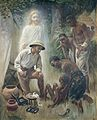 A medical missionary attending to a sick African. Oil painti Wellcome L0032737.jpg