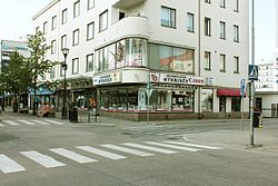 A view to the corner of Kauppakatu and Kirkkokatu in Kajaani..JPG