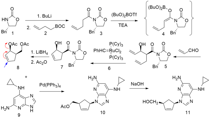 Image result for abacavir synthesis