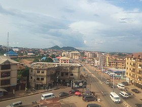Abakaliki metropolis with Azugwu Hill in background 01.jpg