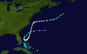 Hurricane Able (1951) - Image: Able 1951 track