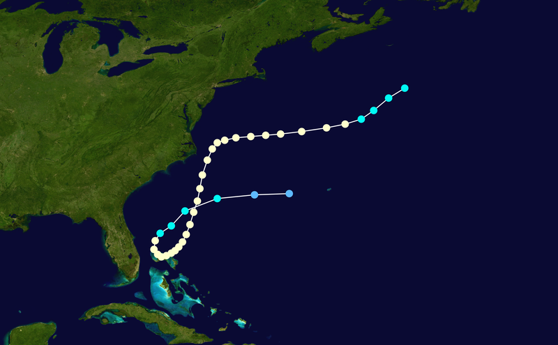 Hurricane Able's Track